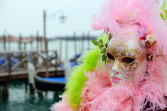 Beautiful mysterious pink mask Royalty Free Stock Images