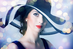 Beautiful mysterious woman Stock Image