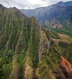 Beautiful Na Pali Coast on the Hawaii, Kauai island Royalty Free Stock Image