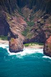 Beautiful Na Pali Coast on the Hawaii, Kauai island Royalty Free Stock Photos
