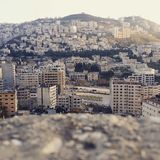 Beautiful nablus. The city of nablus royalty free stock image