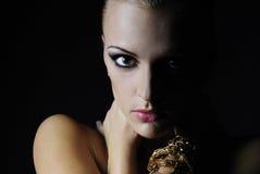 Beautiful nacked girl model Stock Photography