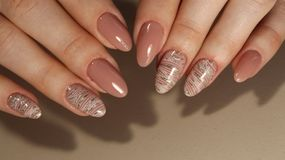 Beautiful Nail Art Manicure. Nail art designs Stock Photography