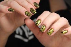 Beautiful Nail Art Manicure royalty free stock photo