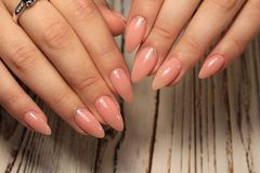Beautiful Nail Art Manicure. Nail designs with decoration. stock photography