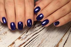 Beautiful Nail Art Manicure. Nail designs with decoration. royalty free stock image