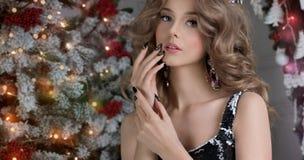 Beautiful Nail Art Manicure. royalty free stock photo