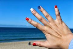 Beautiful nail design. Royalty Free Stock Photo