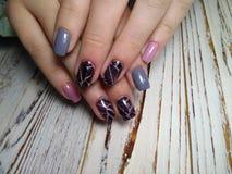 Beautiful nail design royalty free stock images