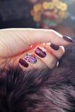 Beautiful nail designs. Royalty Free Stock Photography