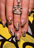 Beautiful nails with Art royalty free stock photos