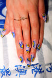 Beautiful nails with Art Stock Images