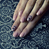Beautiful nails with Art Royalty Free Stock Image
