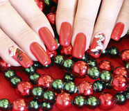 Beautiful nails with art Stock Image