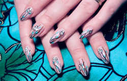 Beautiful nails royalty free stock photos