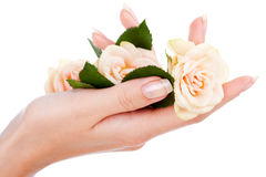 Beautiful nails and fingers Royalty Free Stock Photography
