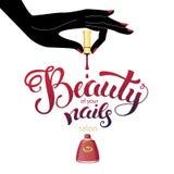 Beautiful nails illustration Royalty Free Stock Photos