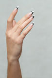 Beautiful nails of Young woman Royalty Free Stock Photo