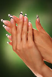 Beautiful nails of Young woman Royalty Free Stock Photography