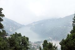 Beautiful Naini Lake from Kumaon hill Stock Images