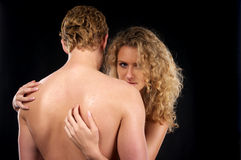 Beautiful naked couple Stock Image