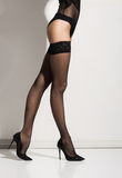 Beautiful naked legs in pantyhose Stock Images