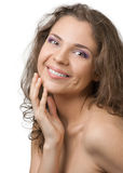 Beautiful naked woman with curly hairs Stock Photo