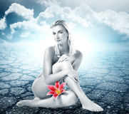 Beautiful naked young woman Royalty Free Stock Image