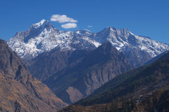 Beautiful Nanda Devi snow peak in Himalaya Royalty Free Stock Photo