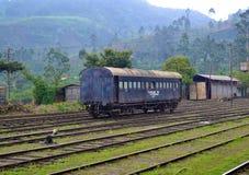 Beautiful Nanu Oya Railway station. Old train with Amazing nature background royalty free stock images