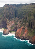 Beautiful Na Pali Coast on the Hawaii, Kauai island Stock Images