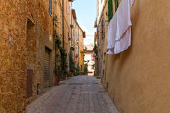 Beautiful narrow alley with traditional historic houses at Monte Stock Photography