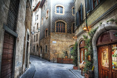 Beautiful narrow street in Florence Stock Images