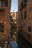 Beautiful narrow streets of Venice Stock Photos