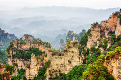 Beautiful narrow and towering wall of rock Avatar Mountains Royalty Free Stock Photography