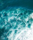 Beautiful Natural Abstract Background, Turquoise Water And Waves Stock Photos