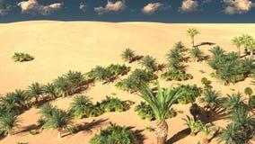 Beautiful natural background -African oasis 3d rendering. Beautiful natural background -African oasis Stock Photos