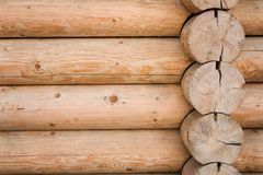 Beautiful Natural Background Pattern of a wood Wall. stock image