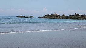 Beautiful natural beach. In Costa Rica stock footage