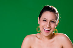 Beautiful natural big smile. Young woman with a beautiful natural big smile Royalty Free Stock Photo
