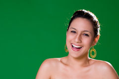 Beautiful natural big smile. Young woman with a beautiful natural big smile Stock Photography