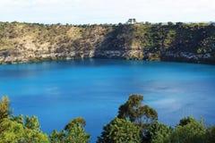 Stunning blue lake at Mount Gambier, Australia royalty free stock photos