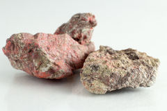 Beautiful and Natural Cinnabar mineral. Of Spain Stock Photos