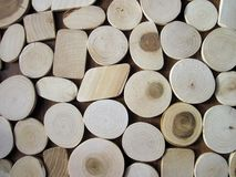 Natural wood pieces, can use as background Royalty Free Stock Image