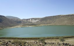 Beautiful natural lake view. Turkey landscape, in central anatolia region Royalty Free Stock Images