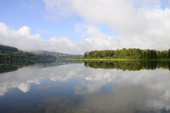 Beautiful natural landscape of Abbey Lake in Jura, France Royalty Free Stock Photo