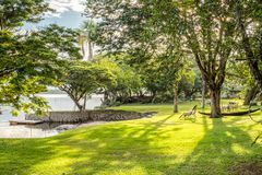Beautiful Natural Landscape at Canaima, Venezuela. Natural sights that are wondrous during the afternoon at Canaima, Venezuela Royalty Free Stock Image