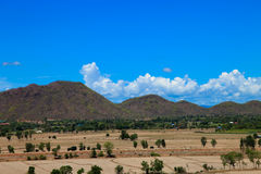 Beautiful natural landscape land and mountain see high view Royalty Free Stock Photography