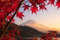 Beautiful natural landscape view of Mount Fuji at Kawaguchiko Royalty Free Stock Photo