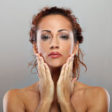 Beautiful natural middle aged woman Royalty Free Stock Photo